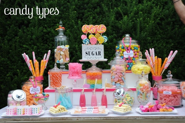 Here are some Candy Buffet Ideas.